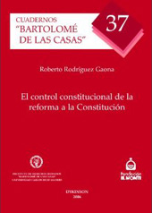 El control constitucional de la reforma a la Constitución