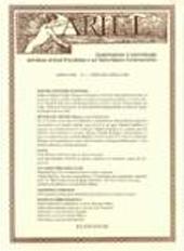 Ariel : quadrimestrale di drammaturgia dell'istituto di studi pirandelliani e sul teatro italiano contemporaneo