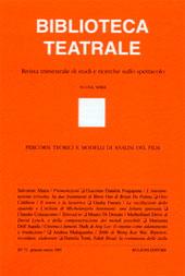 Biblioteca teatrale : rivista trimestrale di studi e ricerche sullo spettacolo
