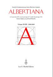 Albertiana -  - Firenze : L.S. Olschki