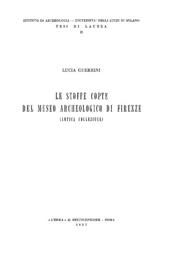 Le stoffe copte del Museo Archeologico di Firenze : antica collezione