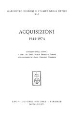 Acquisizioni : 1944-1974