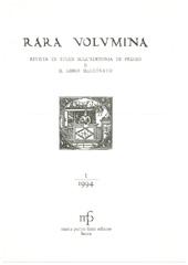 Rara volumina : rivista di studi sull'editoria di pregio e il libro illustrato