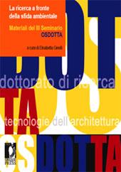 La ricerca a fronte della sfida ambientale : materiali del III Seminario OSDOTTA, Lecco, 12-14 settembre 2007