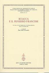 Sciacca e il pensiero francese : atti dell'ottavo Corso della Cattedra Sciacca : Genova, 25-26 settembre 2002
