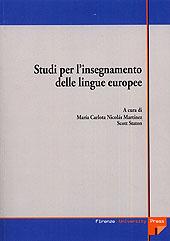 Studi per l'insegnamento delle lingue europee : atti della prima e seconda giornata di studio, Firenze, 2002-2003