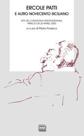 Ercole Patti e altro Novecento siciliano : atti del Convegno internazionale, Princeton, 26 aprile 2003