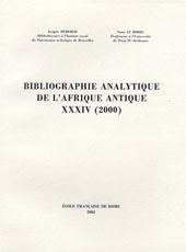 Bibliographie analytique de l'Afrique antique, XXXIV (2000)