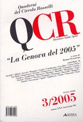 Quaderni del Circolo Rosselli : 90 n.s., 3, 2005 -  - Firenze : Alinea, 2005.