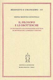 Il filosofo e le grottesche : la pluralità dell'esperienza estetica in Montaigne, Lomazzo e Bruno