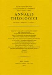 Recensioni -  - Roma : [S.l.] : Annales Theologici  ; Fabrizio Serra, 2008.