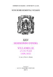 Villanelle a 3, 4 e 5 voci : libri primo (1608) e secondo (1612)
