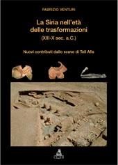 La Siria nell'età delle trasformazioni, XIII-X sec. a.C. : nuovi contributi dallo scavo di Tell Afis