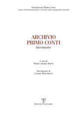 Archivio Primo Conti : inventario