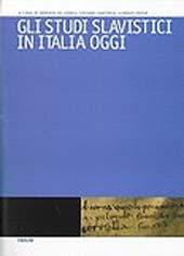 Gli studi slavistici in Italia oggi