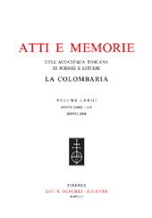 Atti e memorie dell'Accademia Toscana di scienze e lettere : La Colombaria Volume 73 , nuova serie 59, anno 2008
