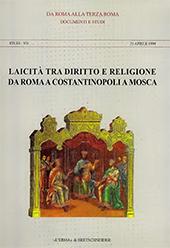 Laicità tra diritto e religione da Roma a Costantinopoli a Mosca