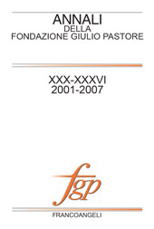 Annali della fondazione Giulio Pastore [539]