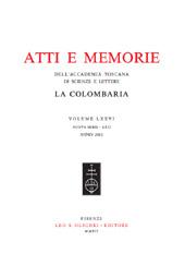 Atti e memorie dell'Accademia toscana di scienze e lettere : la Colombaria : volume LXXVI, nuova serie LXII, anno 2011