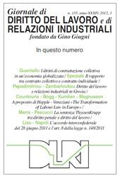 Le recenti trasformazioni del diritto del lavoro in Grecia - Papadimitriou, Costas. - Milano : Franco Angeli, 2012.