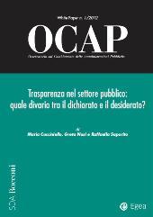 Trasparenza nel settore pubblico : quale divario tra il dichiarato e il desiderato?