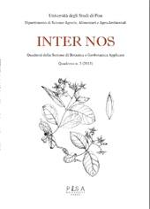 Inter Nos : quaderni della sezione di botanica e geobotanica applicate