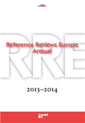 Reference reviews Europe annual, [RREA] : 19/20, 2013-2014 : based on reviews published in Informationsmittel IFB with original reviews. -  - Fiesole (Firenze) : Casalini libri, 2014.
