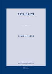 Arte breve - Llull, Ramon - Pamplona : EUNSA, 2014.
