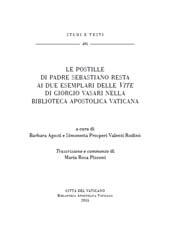 Le postille di padre Sebastiano Resta ai due esemplari delle Vite di Giorgio Vasari nella Biblioteca apostolica vaticana