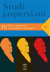 Umanesimo e Bildung in Karl Jaspers. - Ricci Sindoni, Paola - Napoli : Orthotes, 2016.