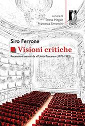 """Visioni critiche : recensioni teatrali da """"l'Unità-Toscana"""" (1975-1983)"""