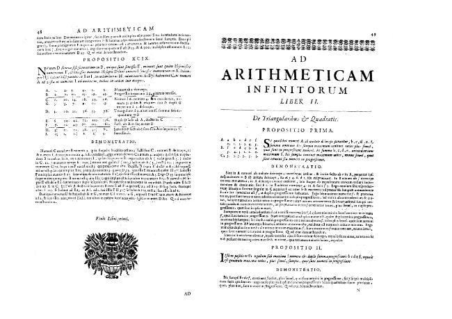 """""""Ad Arithmeticam inifnitorum"""" - Liber II. """"De triangularibus et Quadratis"""" - Propositio I.-LIX. - [Boulliau, Ismael, 1605-1694] - [[S.l.] : Il Giardino di Archimede, 1682.]"""