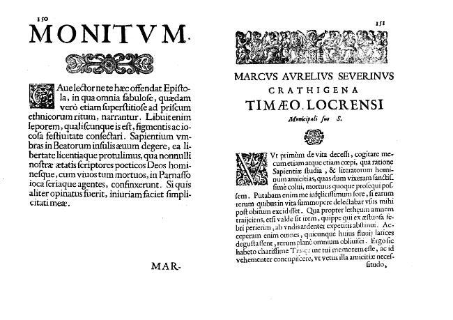 """""""Epistola M. Aurelij Severini nomine conscripta"""". - [Cornelio, Tommaso, 1614-1684] - [[S.l.] : Il Giardino di Archimede, 1663.]"""
