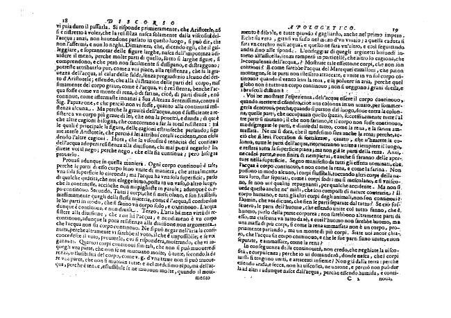 """""""Discorso apologetico"""", [pag. 19-38.] - [Delle Colombe, Lodovico, 1565-?] - [[S.l.] : Il Giardino di Archimede, 1612.]"""