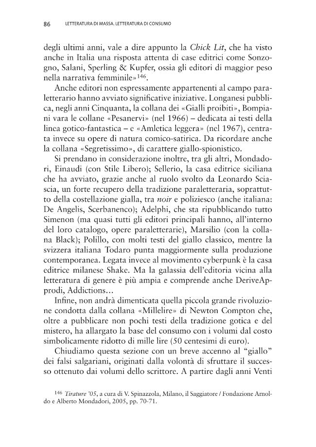Letteratura di massa, letteratura di consumo - [Rondini, Andrea] - [Macerata : EUM-Edizioni Università di Macerata, 2009.]