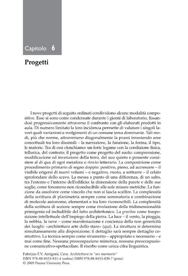 Cava : architettura in ars marmoris. - [Arrigoni, Fabrizio, 1961-] - [Firenze : Firenze University Press, 2009.]