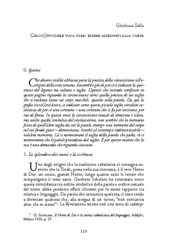 Circo(i)ncidere vuol dire : essere assegnati alla curva - [Solla, Gianluca] - [Napoli : Orthotes, [2016]]
