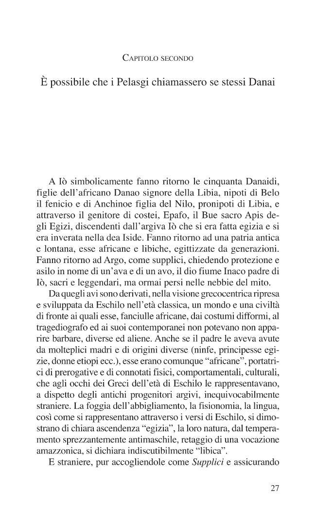 È possibile che i Pelasgi chiamassero se stessi Danai - [Cardamone, Alfonso] - [Cosenza : L. Pellegrini, [2008]]