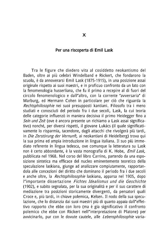 X. Per una riscoperta di Emil Lask - [Bernardini, Paolo] - [Genova : Name, 1999.]