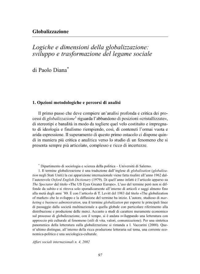 Affari sociali internazionali. Fascicolo 4, 2002 -  - [Milano : Franco Angeli, 2002.]