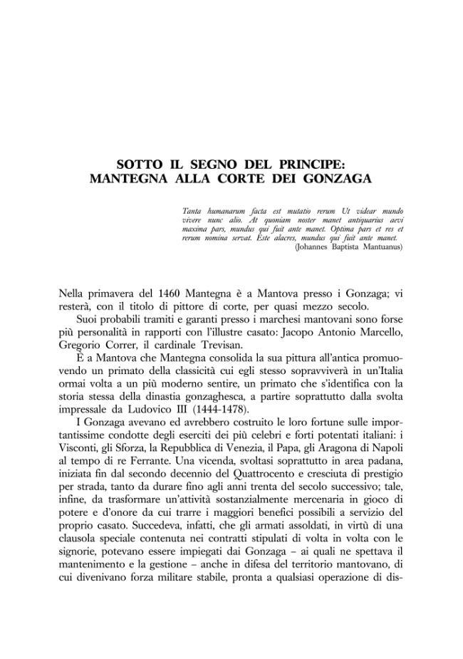 Sotto il segno del principe mantegna alla corte dei for La corte dei gonzaga mantegna