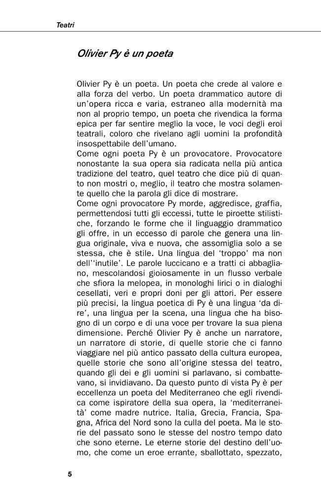 Teatri - [Py, Olivier] - [Bologna : CLUEB, 2007.]