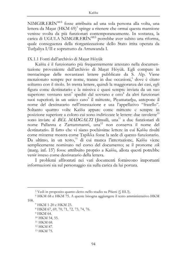 Dignitari ittiti del tempo di Tuthaliya I/ II, Arnuwanda I, Tuthaliya III - [Marizza, Marco] - [[Firenze] : LoGisma, 2007.]