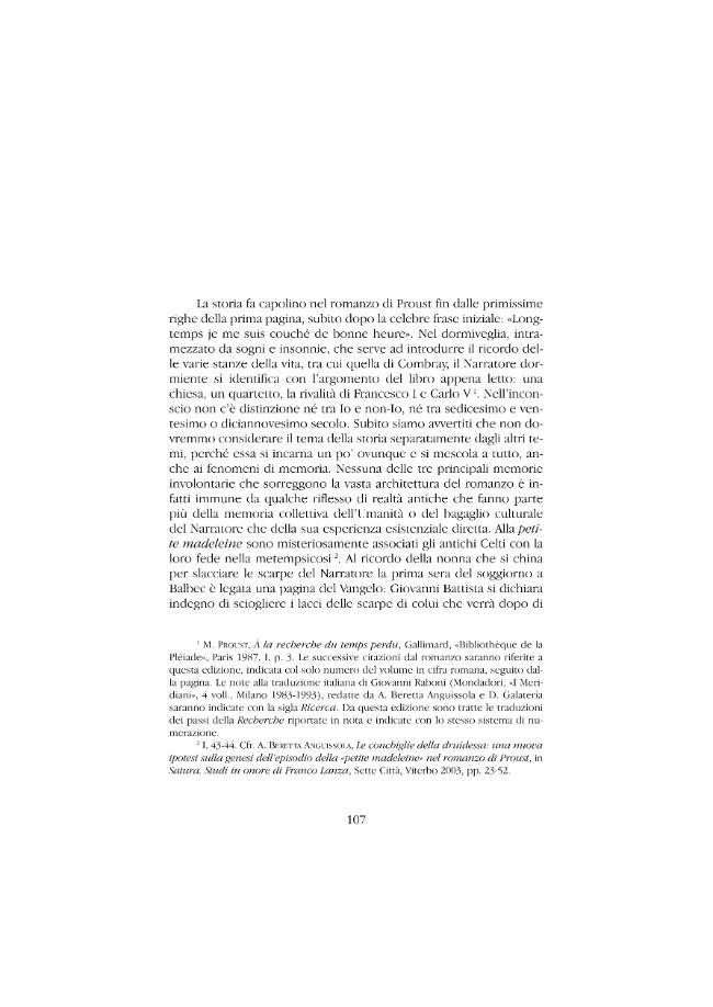 Sull'utilità e il danno della storia per il romanzo : guerra, cronaca e costume nella Recherche di Proust - [Beretta Anguissola, Alberto] - [Roma : Bulzoni, 2008.]