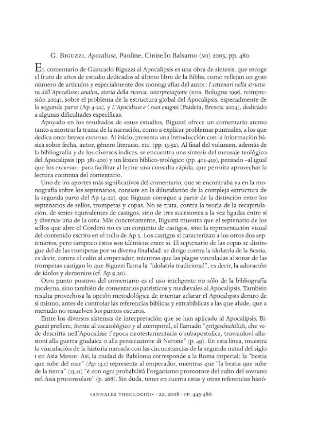 Recensioni -  - [Roma : [S.l.] : Annales Theologici  ; Fabrizio Serra, 2008.]
