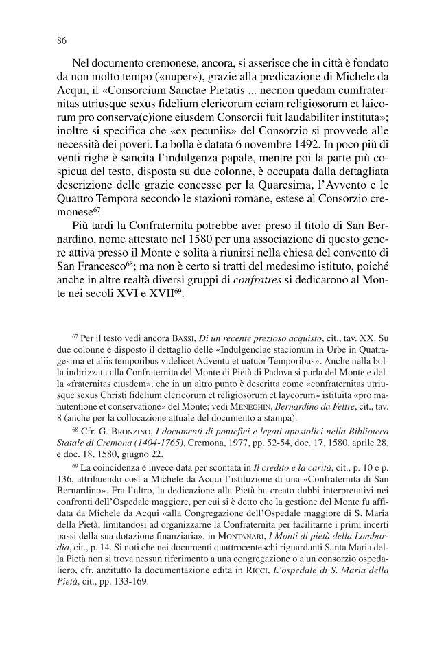 I monti di pietà fra teoria e prassi : quattro casi esemplari : Urbino, Cremona, Rovigo e Messina - [Muzzarelli, Maria Giuseppina, Carboni, Mauro] - [Bologna : CLUEB, 2009.]