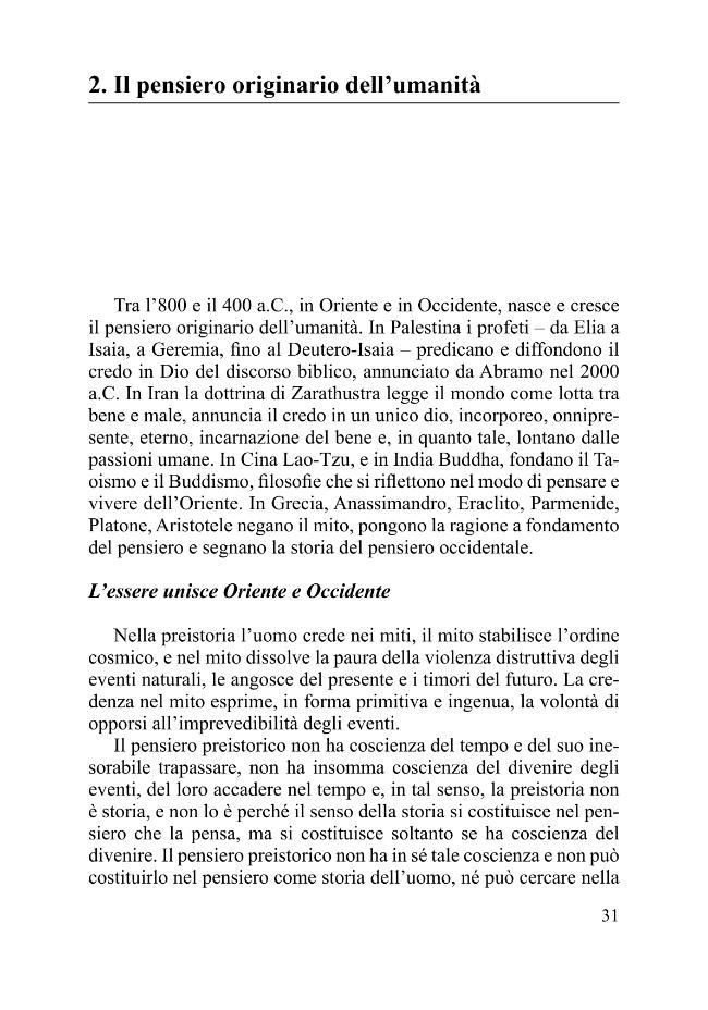 Il pensiero originario dell'umanità - [Scibona, Giancarlo] - [Roma : Armando, 2010.]