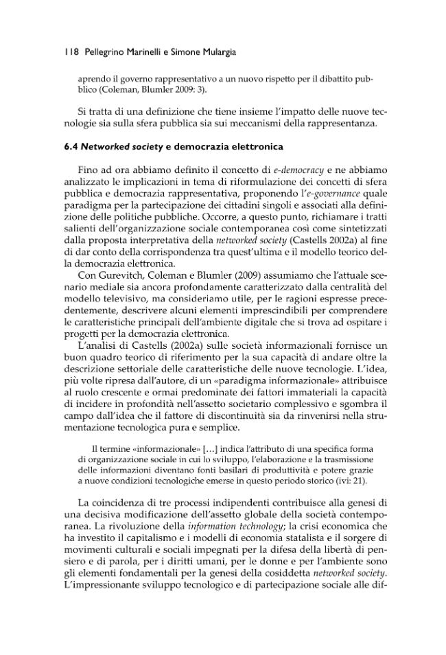 Le reti della comunicazione politica : tra televisioni e social network - [Marinelli, Alberto, Cioni, Elisabetta] - [Firenze : Firenze University Press, 2010.]