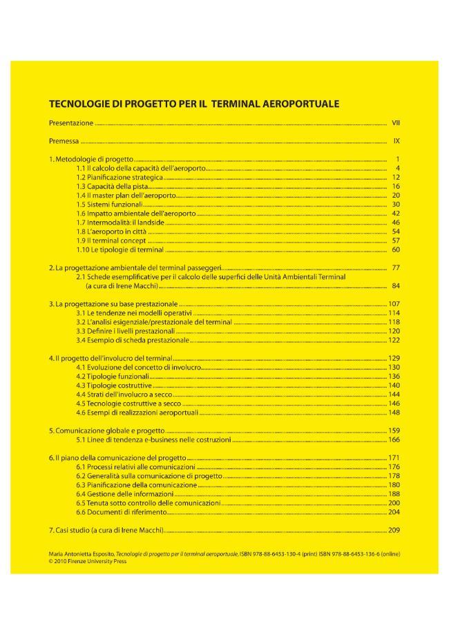 Tecnologie di progetto per il terminal aeroportuale - [Esposito, Maria Antonietta] - [Firenze : Firenze University Press, 2010.]