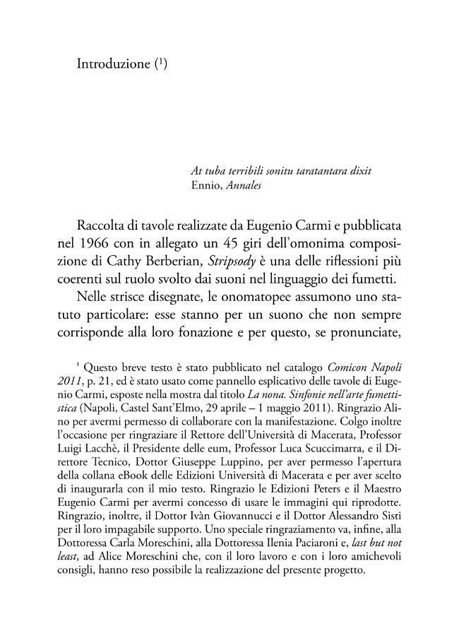 Stripsody : la vocazione musicale delle strisce a fumetti - [Garbuglia, Andrea] - [Macerata : EUM-Edizioni Università di Macerata, 2011.]
